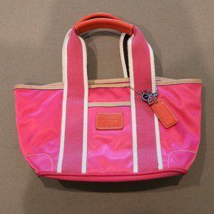 Coach Pink Hamptons Weekend Mini Tote (Vintage)